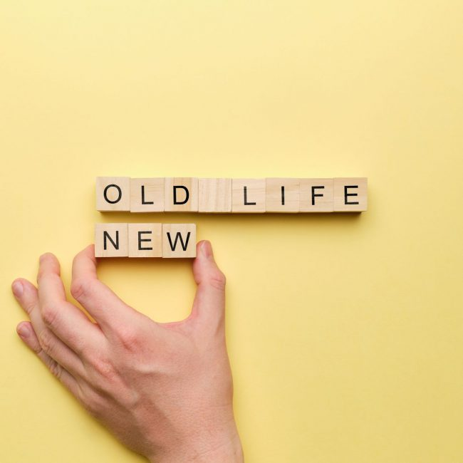 The concept of changing life from old to new.